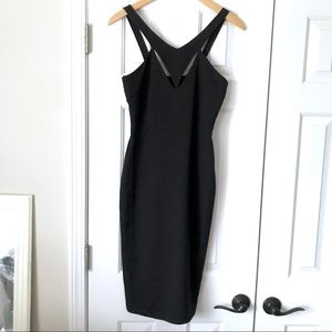 Lulus black bodycon cutout pencil dress